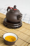 tea teapot cup Chinese pottery clay Oolong cha concept Stock Image