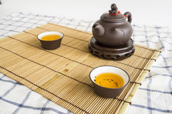 tea teapot cup Chinese pottery clay Oolong cha concept Stock Photography