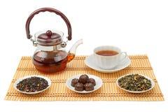 Tea, teapot and cup Stock Image