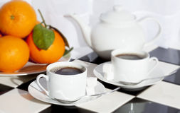 Tea Teapot Oranges Stock Images
