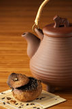 Tea and teapot Royalty Free Stock Image