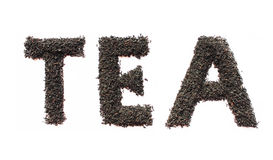 Tea text on white Stock Image