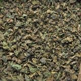 Tea texture Nettle flavour. Tea texture in a container box - Nettle royalty free stock photo