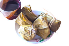 Tea and thailand dessert Stock Photography
