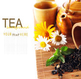 Tea theme background Stock Image