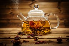 Tea theme still-life stock photo