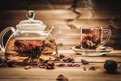Tea theme still-life stock photography