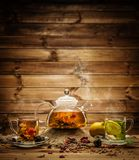 Tea theme still-life royalty free stock photo