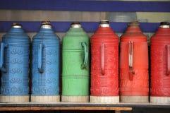 Tea thermos bottles Stock Photos