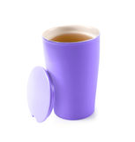 Tea in thermos mug Royalty Free Stock Images