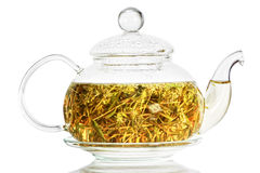 Tea thyme. Thyme tea on white background Stock Image