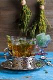 Tea with thyme Stock Photos