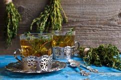 Tea with thyme Royalty Free Stock Photos