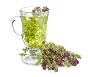 Tea with thyme Royalty Free Stock Photo
