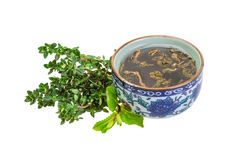 Tea with thyme and mint Royalty Free Stock Photography