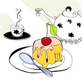Tea time. Universal template for greeting card, web page, background Stock Photography