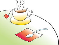 Tea Time stock illustration