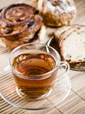 Tea time. Tea, biscuits and pastry for tea time Royalty Free Stock Photos