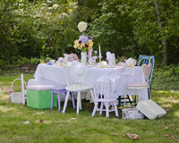 Tea time. A beautiful table dressed up for tea time Stock Photos