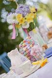 Tea time. A beautiful table dressed up for tea time Stock Image