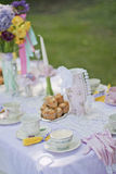 Tea time. A beautiful table dressed up for tea time Stock Photography