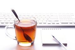 Tea Time. Tea break in working time Stock Photos