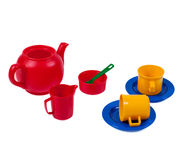 Tea Time. A Childrens colourful tea/beverage set Stock Photography