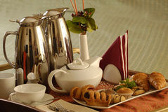 Tea time. Table with tea and sweets Stock Photography