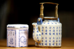 Tea time. Tea pot a stock images