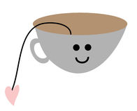 Tea time. Clip art illustration of happy tea time Royalty Free Stock Image