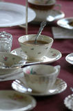 Tea time. A table set for a tea party royalty free stock photos