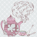 Tea time background Royalty Free Stock Photos