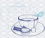 Tea time background Stock Photo