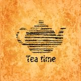 Tea time background Stock Image