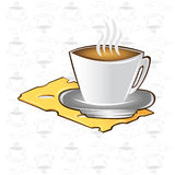 Tea time background cup cheese coffee icon Stock Image