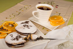 Tea time biscuits royalty free stock image