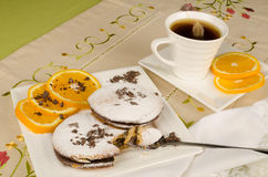 Tea time biscuits Stock Images
