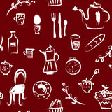 Tea time at the cafe  seamless pattern Royalty Free Stock Photos