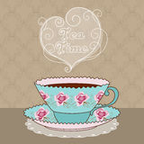 Tea Time Card Royalty Free Stock Image