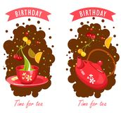 Tea Time Card Royalty Free Stock Photography