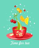 Tea Time Card Royalty Free Stock Images