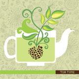 Tea time card Stock Images