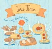 Tea Time Card Royalty Free Stock Photo