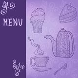 Tea time card menu Stock Photo