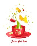 Tea time card Stock Photography