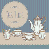 Tea Time card Stock Photography