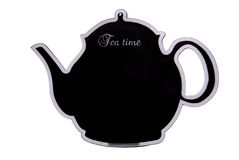 Tea time chalk board cutout Royalty Free Stock Photo