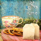 Tea time cheerful background Royalty Free Stock Image