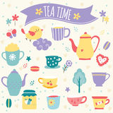 Tea Time Clip Art Stock Photography