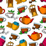 Tea time, coffee and desserts background Stock Photography
